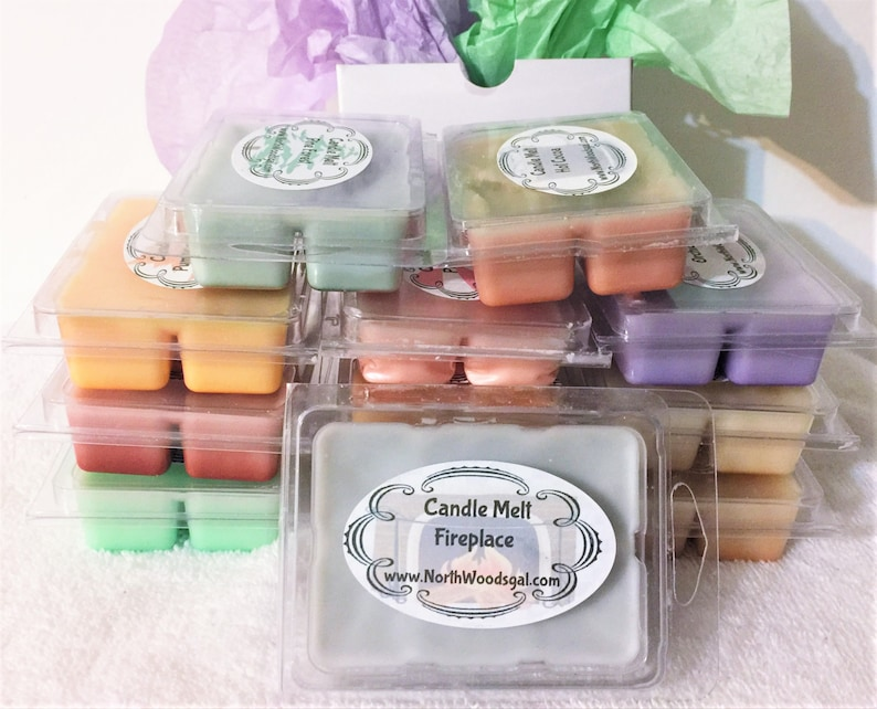 Fireplace Candle Wax Melts Tarts Gift Wrap Relaxing image 0