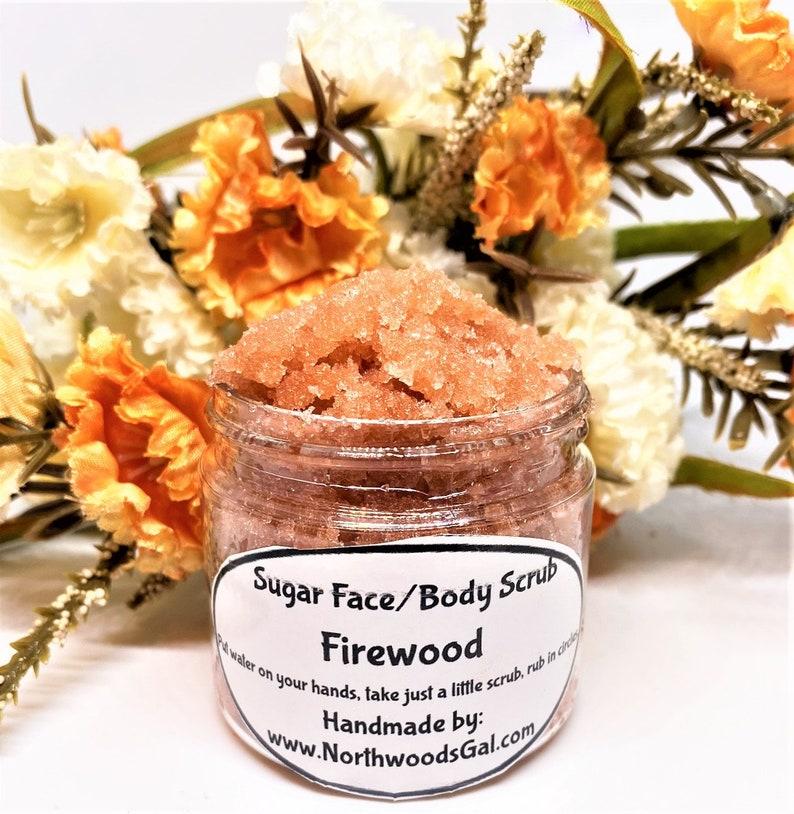 Sugar Scrub Firewood or choose a scent Cleanser Exfoliate image 0