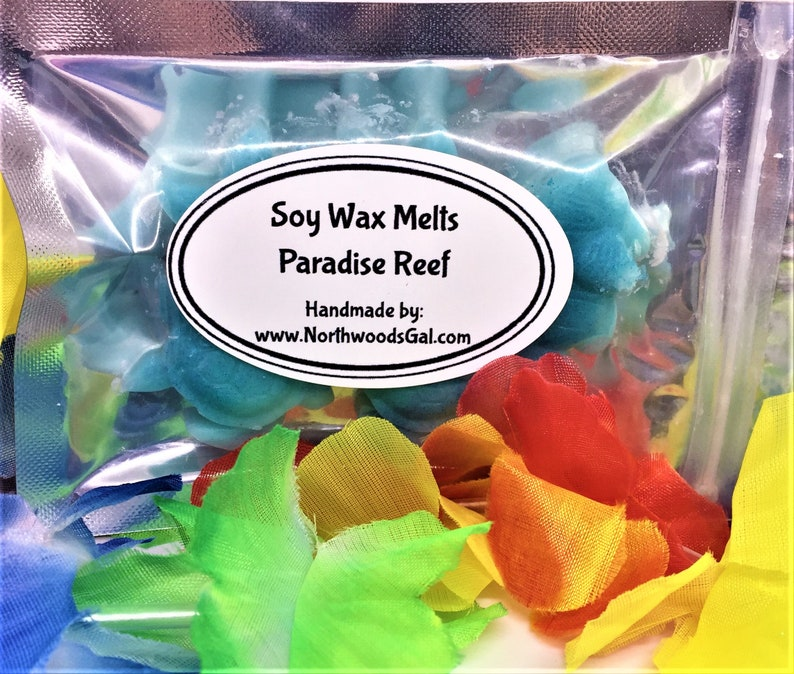 Paradise Reef Tropical or Choose a Scent Soy Wax Melts image 0