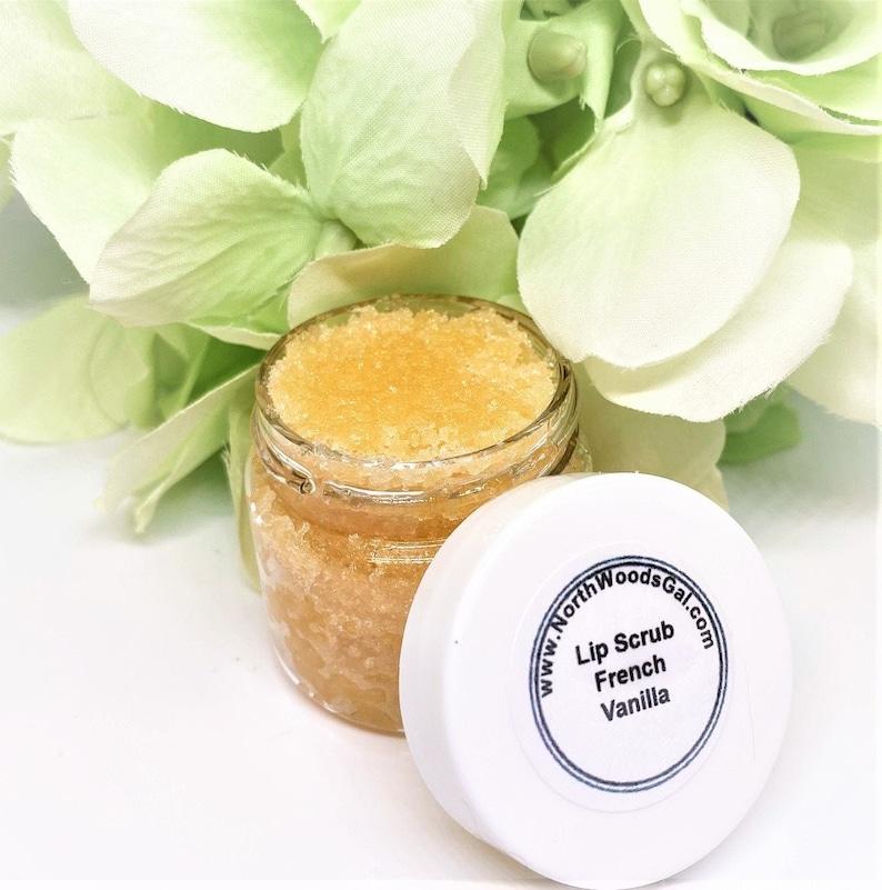 French Vanilla or choose a scent Lip Scrub Lip Balm Sugar image 0