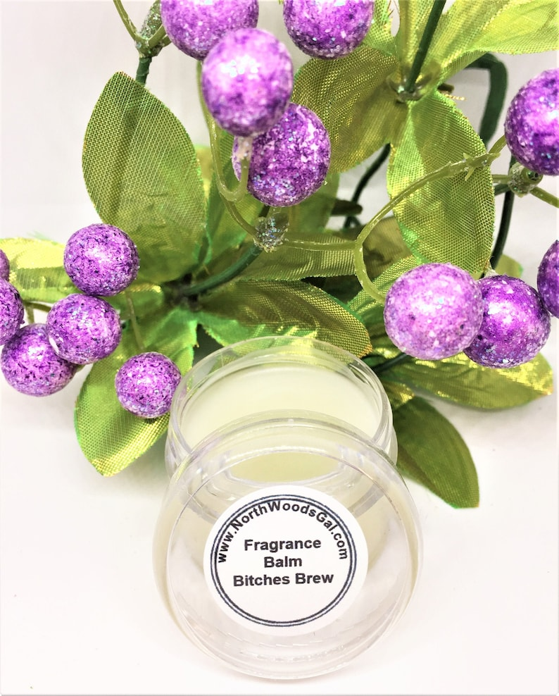 Bitches Brew or choose a scent Solid Fragrance Balm Perfume image 0