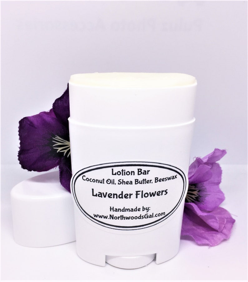 Lavender Flowers or choose a scent Hand Lotion Bar Shea image 0