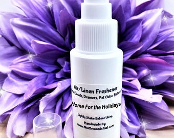 Home for the Holidays Air Freshener, or choose scent, Room Spray, Bathroom Deodorizer, Odor Eliminator, diapers, linen, drawers, clothes