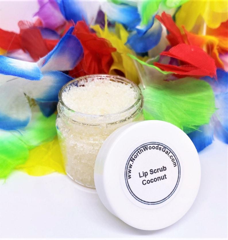 Coconut or choose a scent Lip Scrub Lip Balm Sugar Avacado image 0