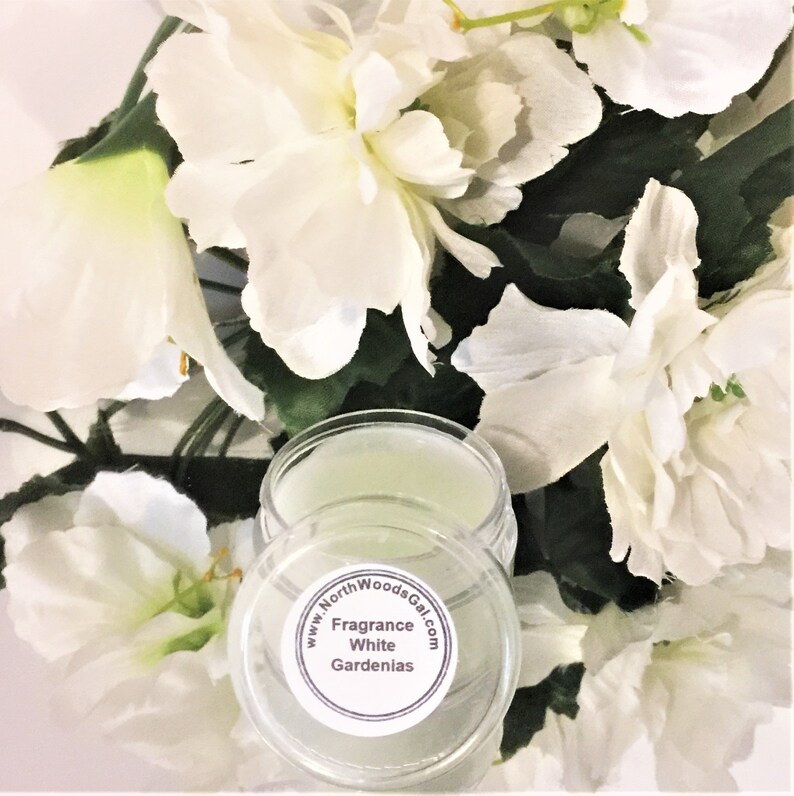 White Gardenias or choose a scent Solid Fragrance Balm image 0