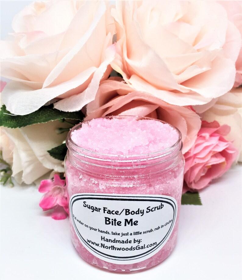 Sugar Scrub Bite Me or choose a scent Cleanser Exfoliate image 0