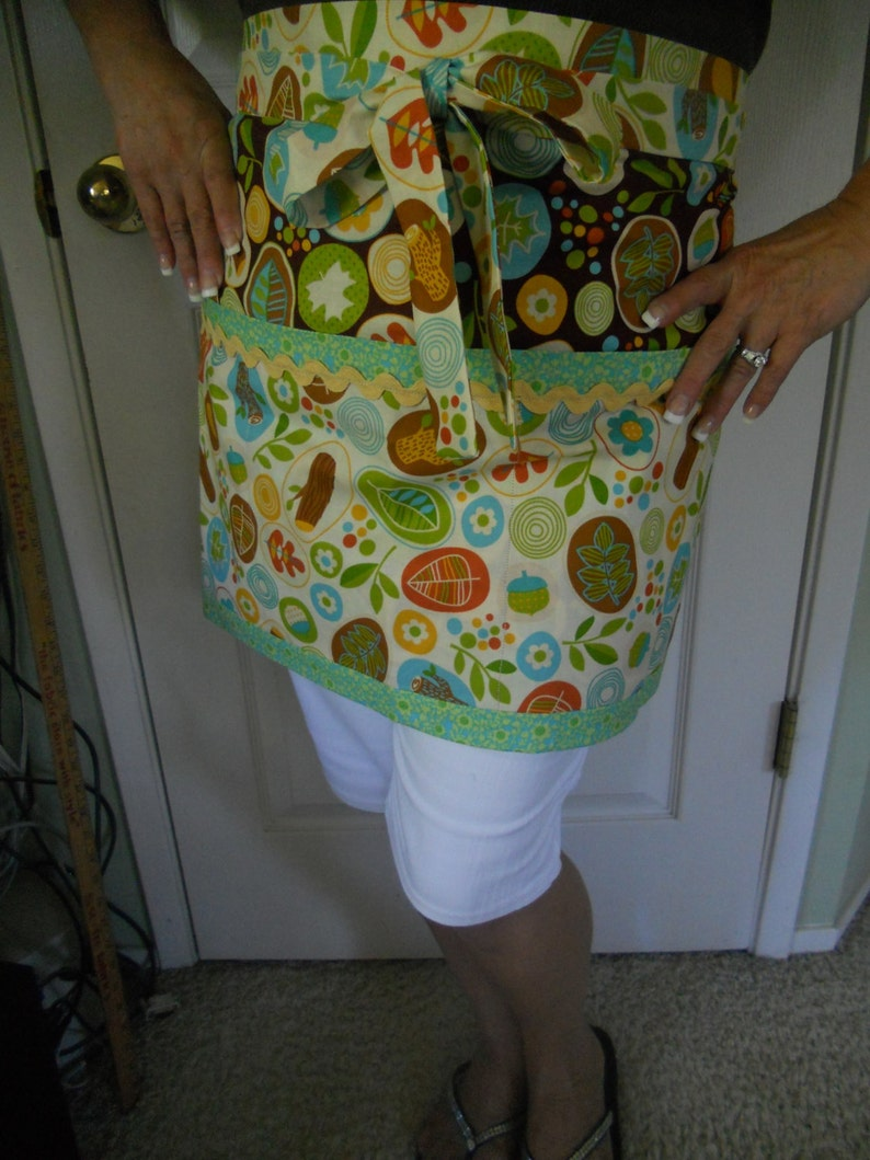 Woodland creature Sewing room accessories, Craft Apron gift set Woodland Gift set