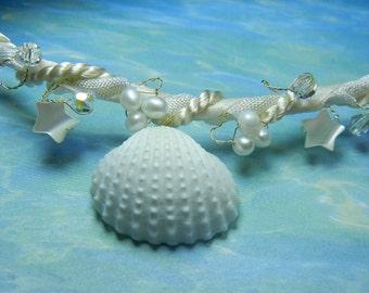 Sea Goddess - Seashell Wedding Hair Wreath
