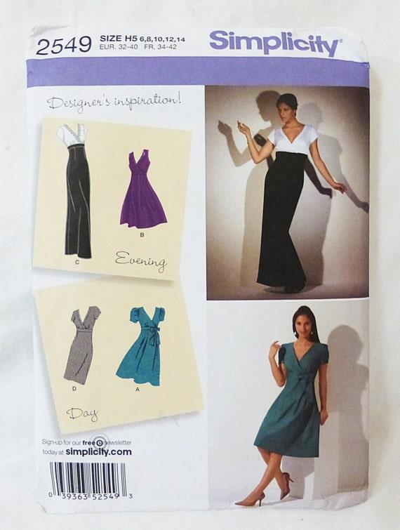 Día y la noche de la sencillez del vestido coser pattern2549 | Etsy