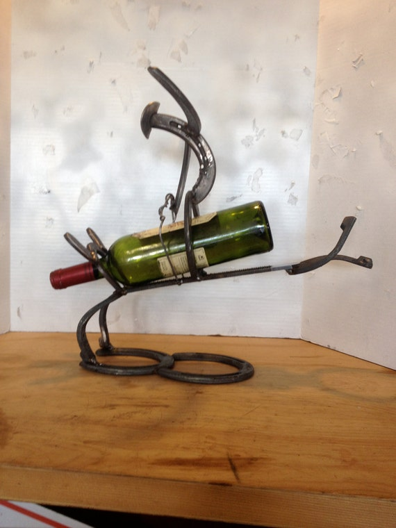 Cowboy Bullrider Wine Bottle Holder Etsy