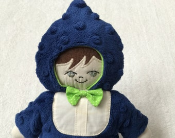Inventory Sale!  Gumdrop hooded boy Lovie with personalization