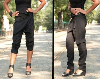 Harem Pants Woman, Plus Size Pants, Festival Pants, Black Harem Pants, Avant Garde Clothing, Loose Pants, Festival Clothing, Festival Outfit