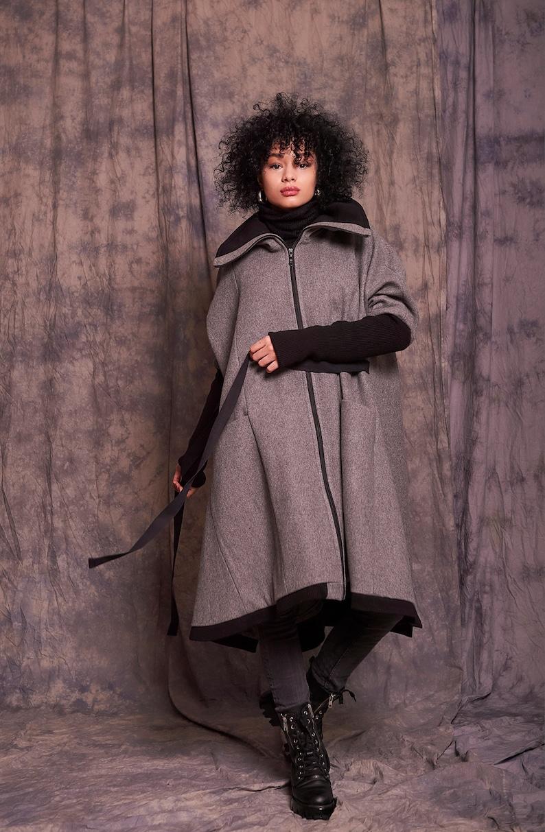 Long Coat Oversized Coat Winter Coat Women Loose Coat Women Wool Winter Coat Wool Coat Women Plus Size Winter Coat Women Gray Coat