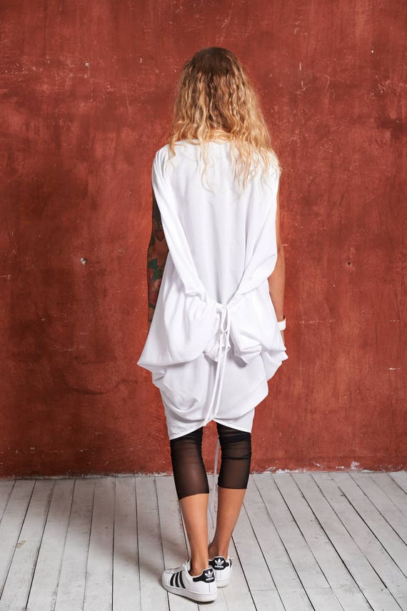 Dress White Tunic Top White Tunic White Batwing Chic Tunic Caftan Shirt Cotton Dress Oversize White Boho Top Dress Tunic Dress xPXz5X1