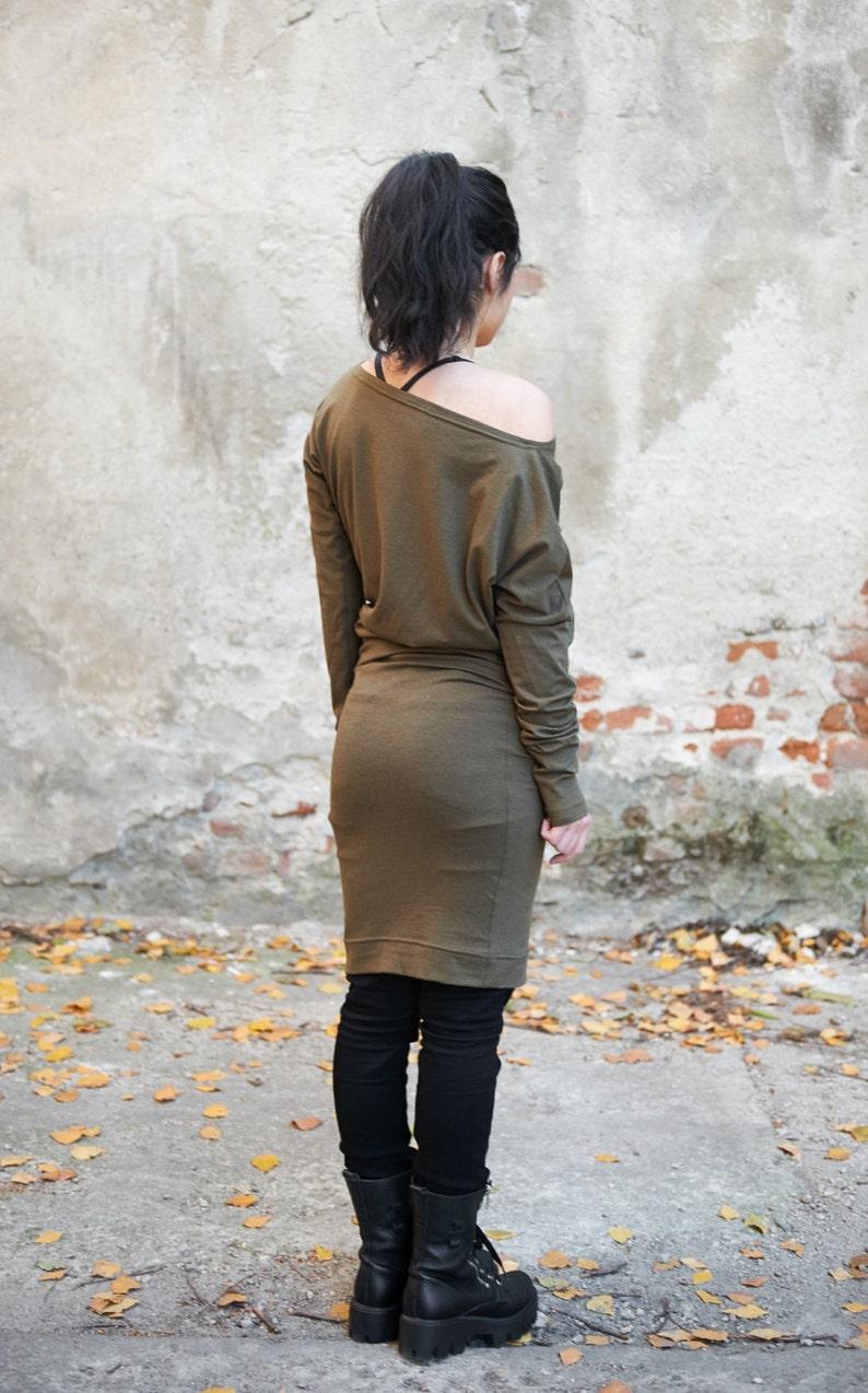 Spring Dress Hoodie Dress Sweater Tunic Dress Loose Dress Wrap Dress Futuristic Dress Winter Clothing Pencil Dress Indie Dress