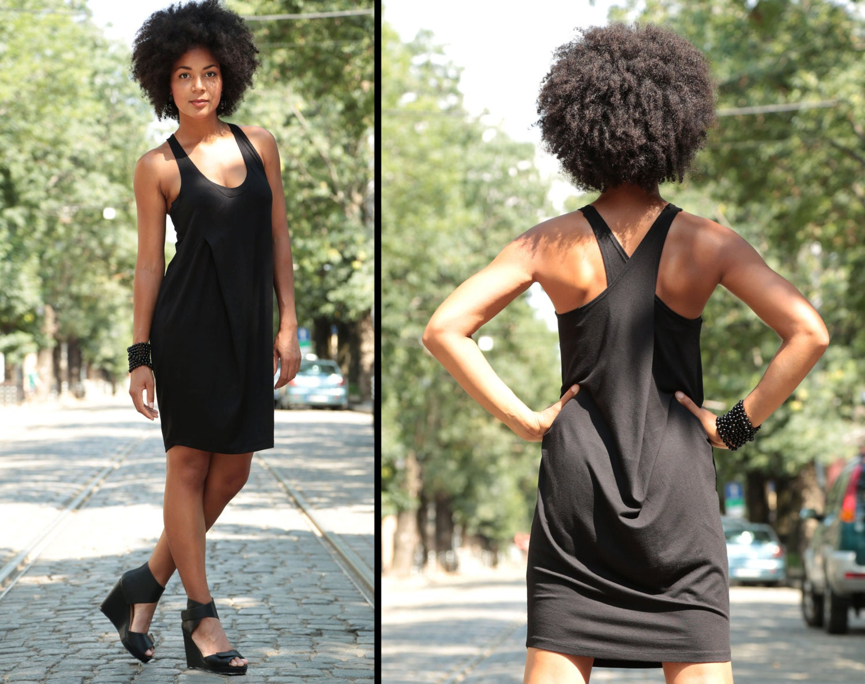 410e864f77d7 Loose Dress Black Dress Minimalist Dress Black Tunic