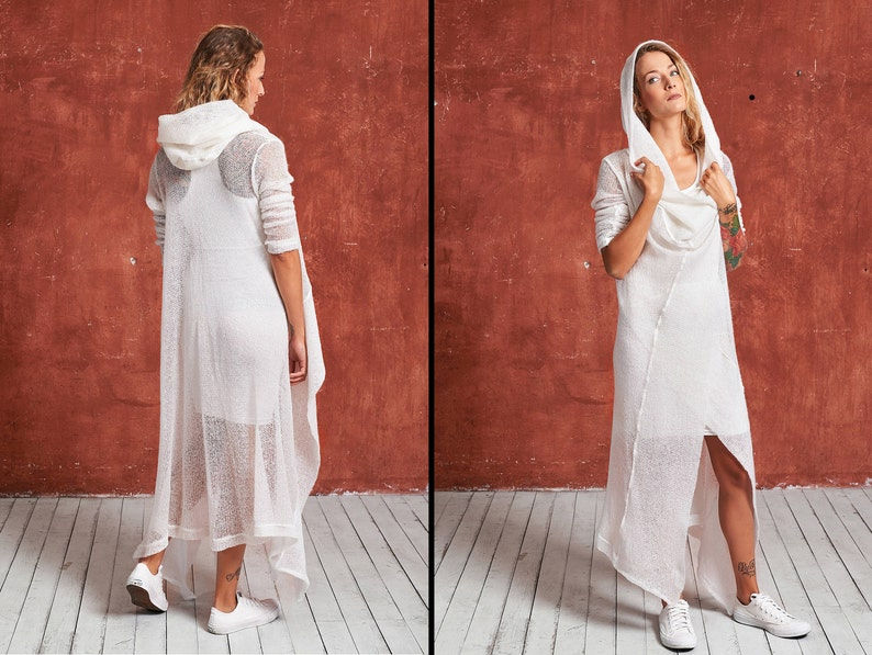 dba92934d6 White Knit Dress White Maxi Dress Winter Dress Sweater