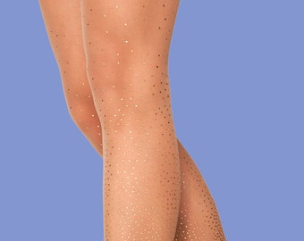 Starry Night sheer nude, polka dots tights available in S-M L-XL XXXL