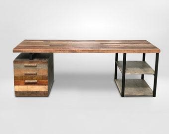 reclaimed wood desk reclaimed wood table steel legs design wooden desk handcrafted by order