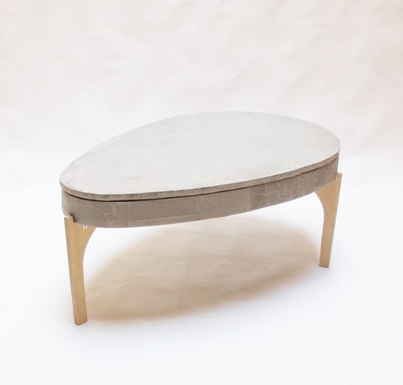 Concrete Lift Top Coffee Table Concrete Table Top Industrial Table Side Table Oval Coffe Table Concrete Oval Coffee Table Lift Mechanism