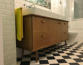 Wood Vanity, Bathroom Vanities, Vanity Cabinets, Bathroom Furniture,  TV stand, TV console,  mid century modern. By order. Custom made.