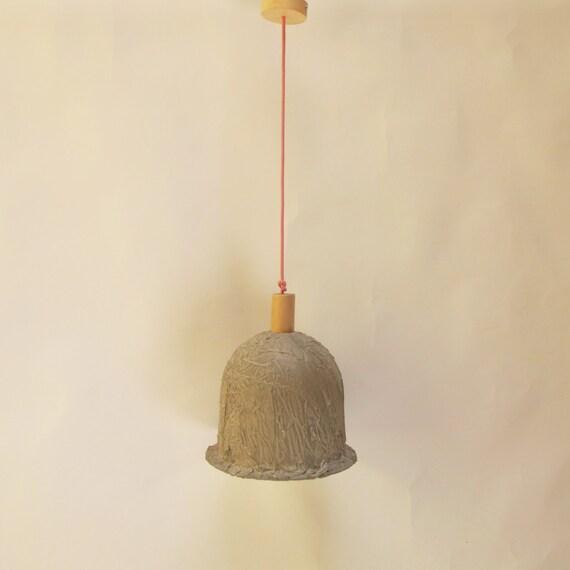 colgante cementoLámpara de Lámpara de industrial campanaIluminación techo cementoForma hormigónEstilo de NwP80Ovmyn