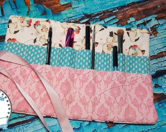 Gifts for Travelers. Best Makeup Bag for Travel. All-in-One MakeUp Brush Roll . Travel Makeup Organizer. Compact Makeup Brush Bag. Cat