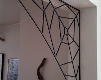 steel spider web, great home or outdoor accent