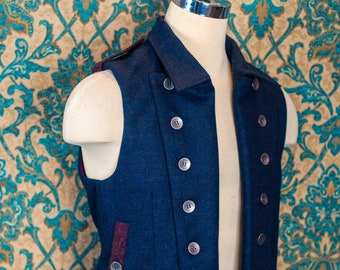 Shetland Tweed Moto Vests