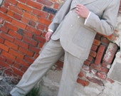Men's Vintage Style Suits, Classic Suits The DoubleBreasted Houndstooth Sporting Suit $1,845.00 AT vintagedancer.com