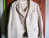 Linen Seersucker 3-Piece Suit--Your Size, Your Style