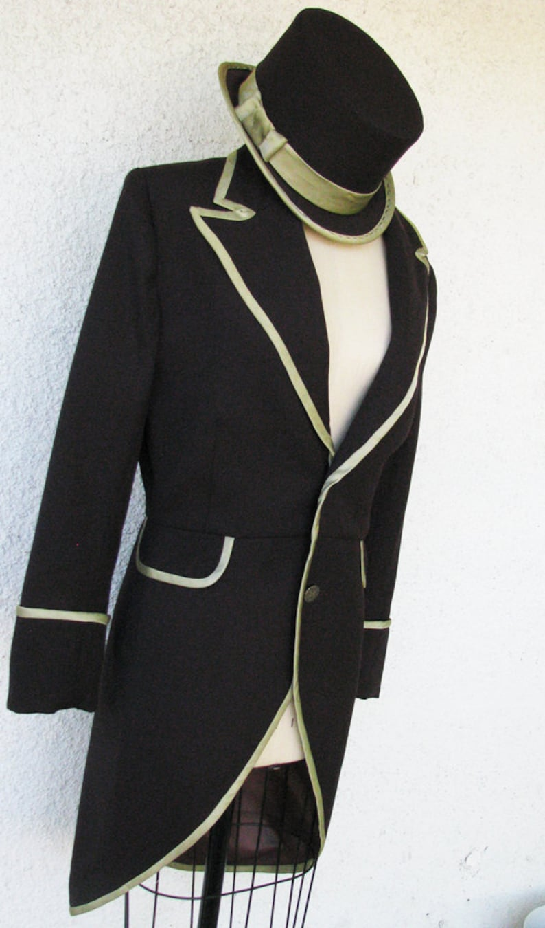 Men's Steampunk Jackets, Coats & Suits Steampunk Top Hat Pant and Frock $1,890.00 AT vintagedancer.com
