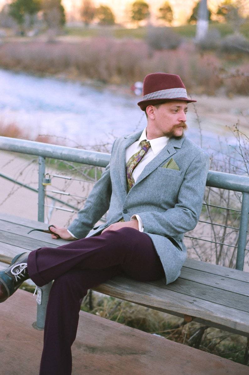 1940s Men's Outfit Inspiration | Costume Ideas 1940s Style Flannel Sport Coats---Custom Made $1,200.00 AT vintagedancer.com
