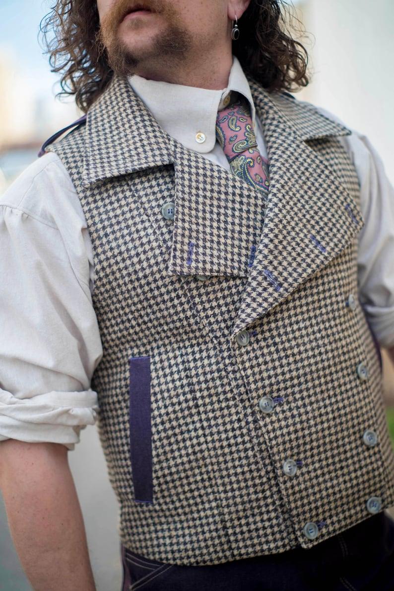 Edwardian Men's Fashion & Clothing 1900-1910s Edwardian Moto Vests $345.00 AT vintagedancer.com