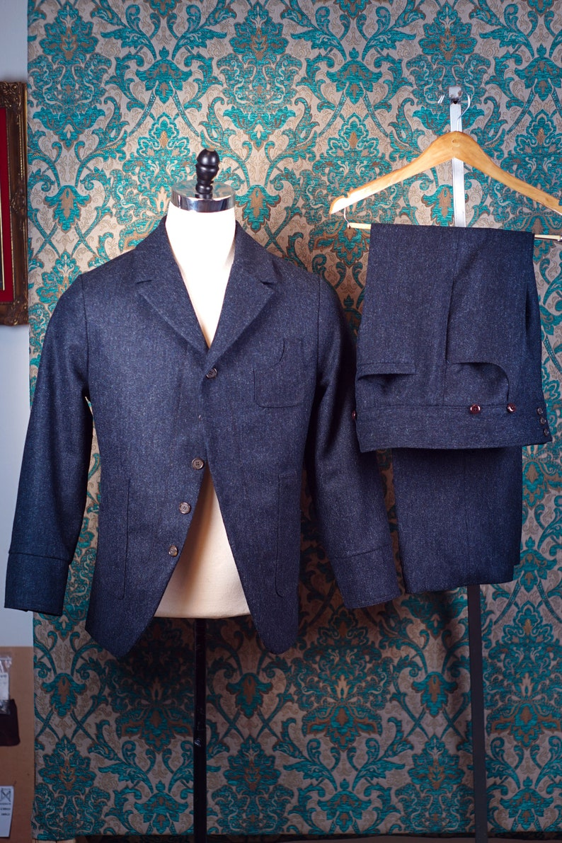 1920s Men's Suits History Workingmans Tweeds---Sack Coat and Pant----Editions 36 $1,115.00 AT vintagedancer.com