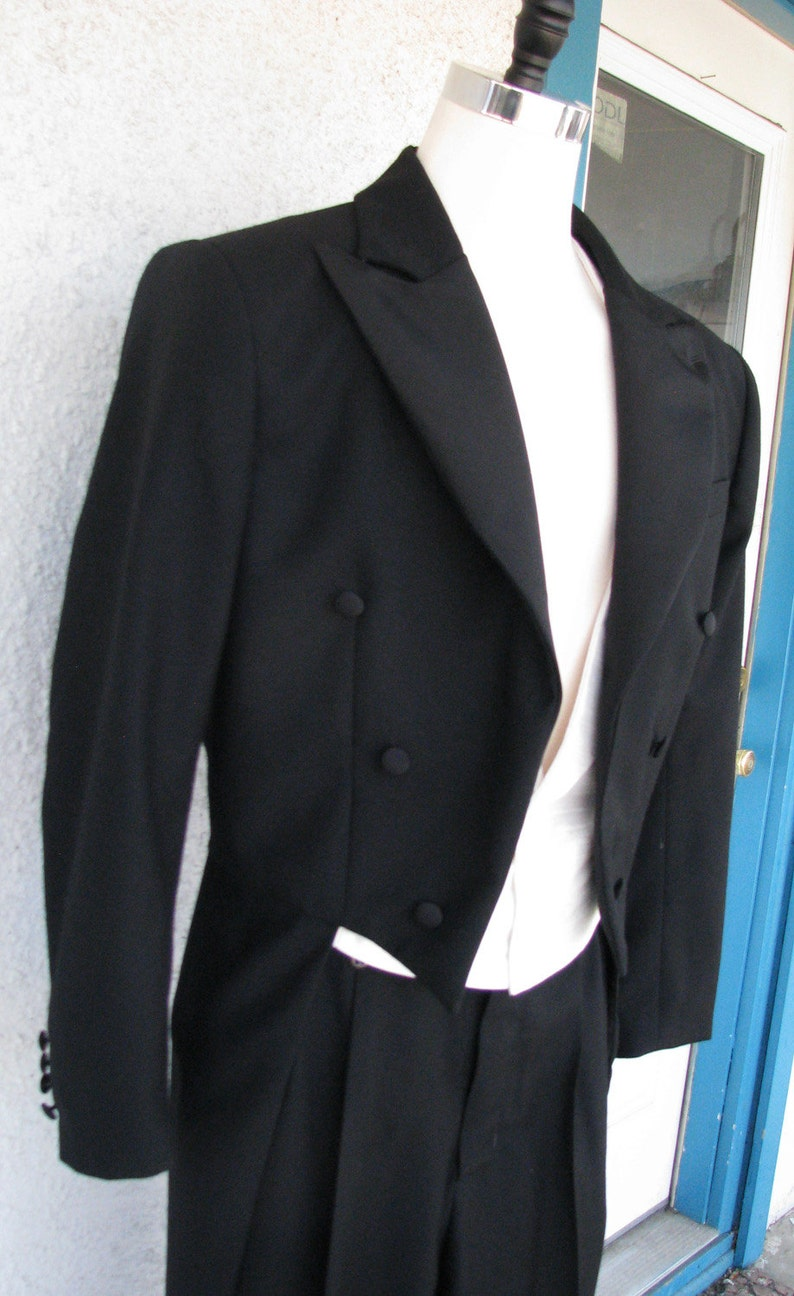 1920s Men's Evening Wear History: Tuxedos to Tailcoats White Tie Tailcoat Vest and Pant---Custom Made Muslin Fit $2,575.00 AT vintagedancer.com