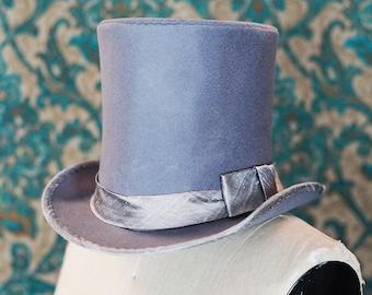 The Incredible Custom Top Hat---in Silver Grey