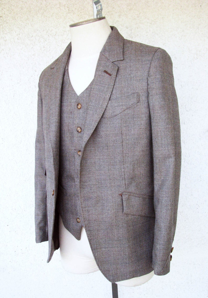 Men's Vintage Style Suits, Classic Suits Amazing Glen Plaid Suits----1909  $2,275.00 AT vintagedancer.com