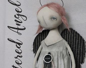 Angel Christmas Valentines EPATTERN-primitive cloth doll craft digital download sewing pattern-PDF Brenda Sanker