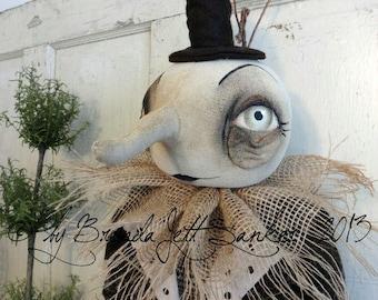 Moon EPATTERN-primitive moon ghost cloth doll craft digital download sewing pattern-PDF Brenda Sanker