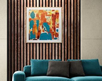 Stacks - 30 x 30 Abstract Wall Decor Art  - Urban Cairn Series No. 1