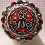 Georgia Bulldogs ID Badge Holder, Bulldogs Badge Reel, Retractable ID Badge Reel, Nurse Badge Holder,University of Georgia, Nurse Badge Reel