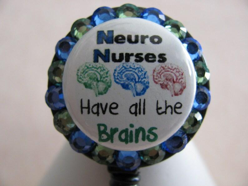 Neuro Nurse ID Badge Holder,Neuro Nurse Badge Reel,Nurse Badge Holder,Nurse  Name Tag Holder,Bling Badge Reel,Neuro ICU Badge Reel,Nurse Gift