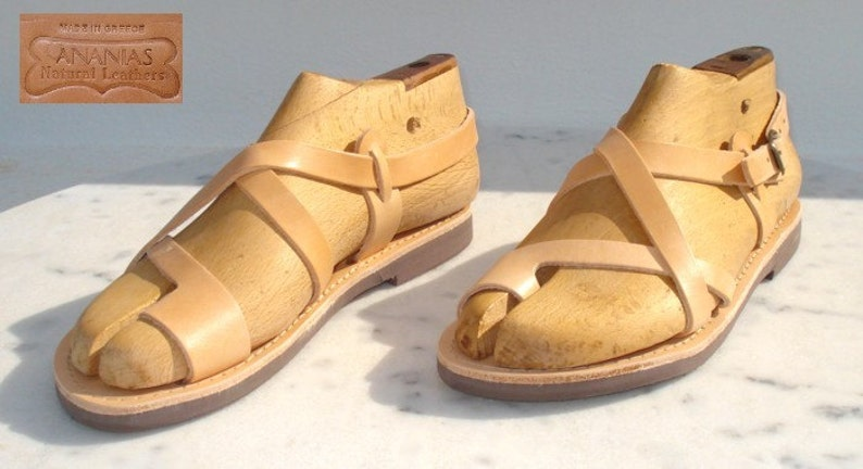 7a4bc86ad3fd ANANIAS Greek Roman handmade leather Sandals for men