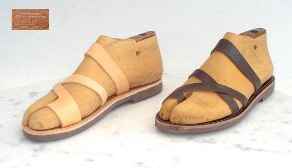 ANANIAS griechisch griechische römische handgemachte Ledersandalen aus  Griechenland 60cdb91c09