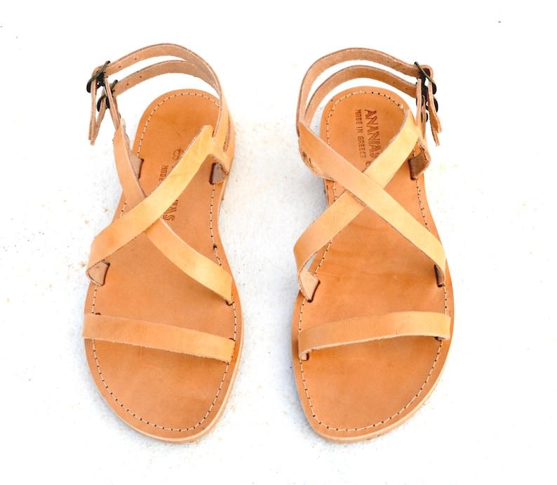 4aedb5ecfffee6 ANANIAS Greek Sandals Roman Grecian handmade leather sandals