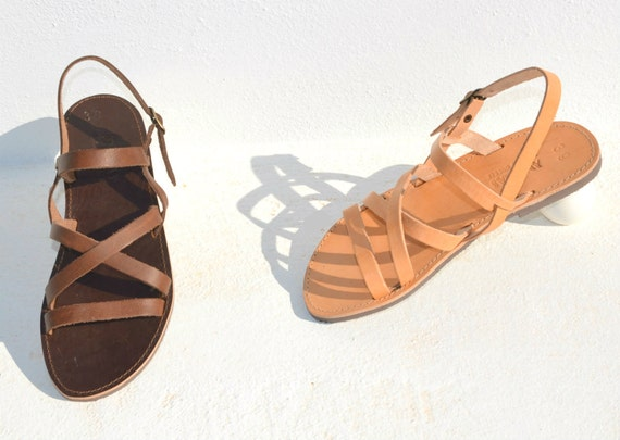 """<Span Data Inner Title="""""""">Handmade Roman Grecian Leather Sandals New Style</Span> by Etsy"""