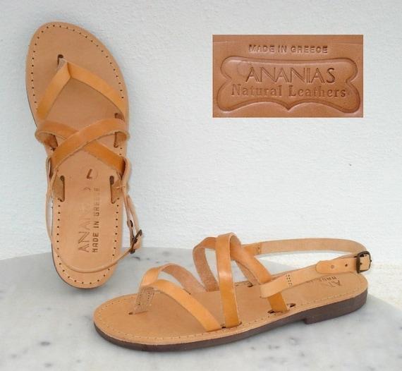 ANANIAS griechische Sandalen römische griechischen handgemachte Ledersandalen