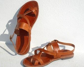 Handmade Roman Grecian leather sandals-immediate shipping