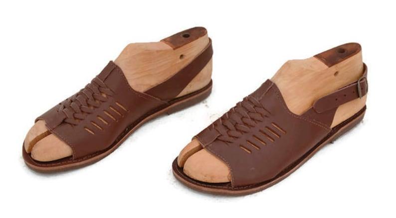 1930s Men's Shoe Styles, Art Deco Era Footwear Handmade Roman Grecian leather sandals for men - NEW $45.00 AT vintagedancer.com